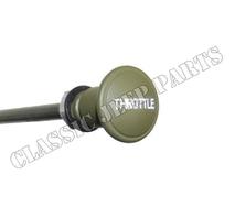 Handgasknapp gjuten zinc graverad text med wire och hölje FORD GPW tidig