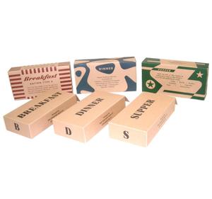 K Ration set of paperboxes 1 day ration