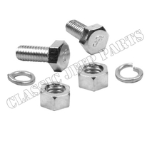 "Kit with 2 bolts washers and nuts 5/16""-3/4"" UNC FORD GPW F-script"