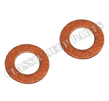 Kit with 2 copper washers rear brake hoses