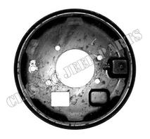 Plate emergency brake backing plate