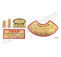FRAM decal set oil filter WILLYS MB