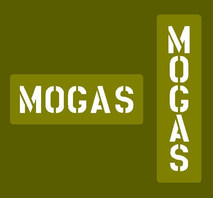 "Jerry can stencil ""MOGAS"""
