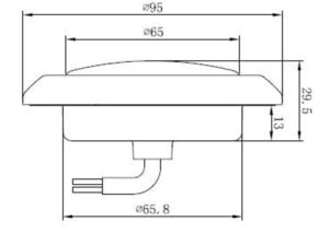 Runda Bakljus för inbyggnad med Bakljus/Bromsljus 12volt