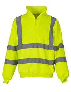 Hi Vis 1/4 Zip Sweatshirt Klass 3