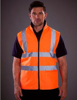 Säkerhetsväst & Fleece Bodywarmer Class3