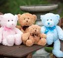 Brumlebjörnar Rosa, blå och brun