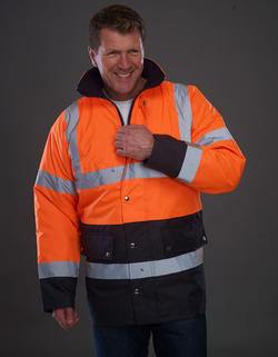 His-Vis 2 färg Motorway Jacket