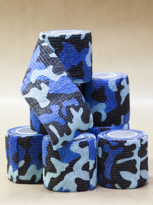 Tube bandage Blue Camo 50mm