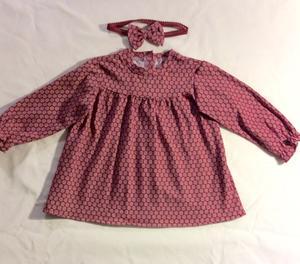 Mörkröd babyklänning