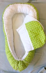 Grönt med vita prickar