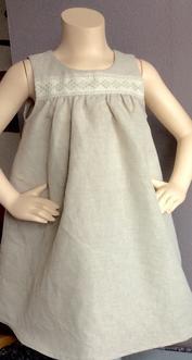 Linne/natur madickenklänning