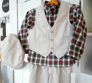 Väst, byxa och skjorta