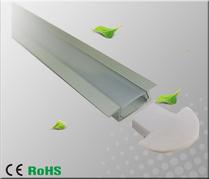 Aluminiumprofil för ledtejp infälld Låg