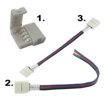 Snabbkontakter för Ledtejp SMD5050 RGB 10mm 7,2W/m & 14,4W/m