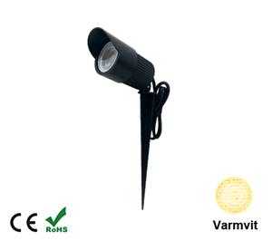 Led COB Trädgårdslampa 3W Varmvit