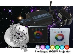 Stjärnhimmelpaket 16W RGBW Väggkontroll 8kvm