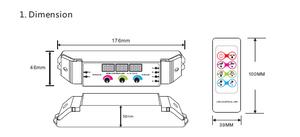 RGB Vridkontroller  med Display 12-24VDC 3x6A