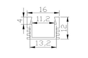Ledlist i aluminium SMD5630 1.0m