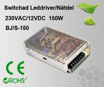 Switchad Leddriver/Nätdel 230VAC/12VDC 150W