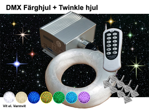 Stjärnhimmelpaket 5W DMX Twinkle Dimbar Ledprojektor 5kvm