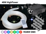 Stjärnhimmelpaket 48W RGBW DMX Dimbar 14kvm