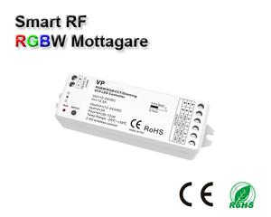 Wifi 2,4GHz RGBW kontroller/mottagare 12-24VDC 4x6A