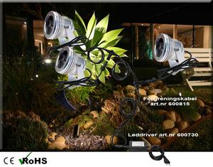 Led Trädgårdslampa HighPower 3x1W