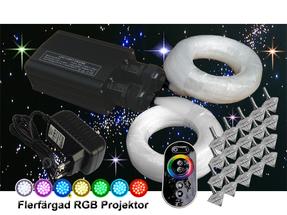 Stjärnhimmelpaket 32W RGB Dubbel Ledprojektor 17kvm