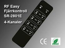 RF Easy Fjärrkontroll SR-2801E 4-interna zoner