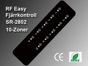 RF Easy Fjärrkontroll SR-2802 10-zoner