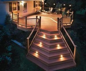Deck/Floorlight Lampa 0,4W Vit/Varmvit