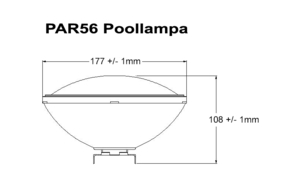 Poolbelysning PAR56 COB 40W Varmvit Rostfritt lamphus