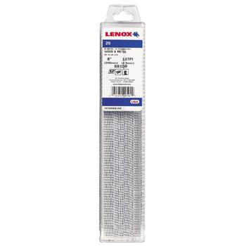 LENOX Tigersågblad, Bi-metal, 203 mm, 10 TPI, 25-pack