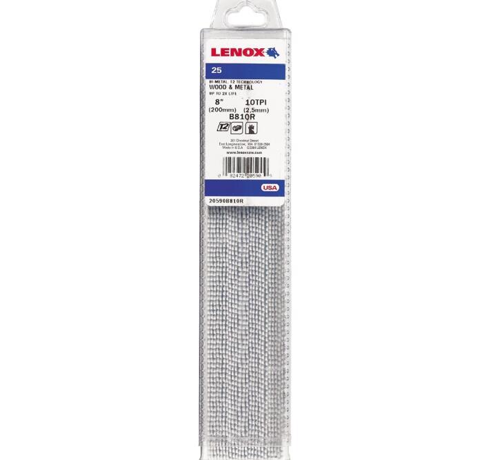 LENOX Tigersågblad, Bi-metal, 203 mm, 10 TPI, 25-pack