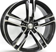 "22"" MONACO MC7 - Gloss Black / Polished 10x22 - ET30"