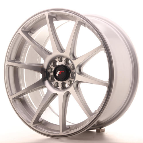 "18"" JAPAN RACING JR11 SILVER MACHINED"