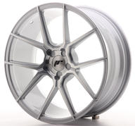"19"" JAPAN RACING JR30 SILVER MACHINED"