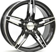 "19"" MONACO GP1 - Gloss Black / Polished 8x19 - ET35"