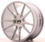 "18"" JAPAN RACING JR21 SILVER MACHINED"