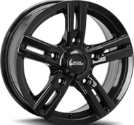 "16"" INTER ACTION KARGIN - Glossy Black 6,5x16 - ET35"