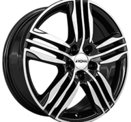 "17"" RONAL R57 - Gloss Black / Polished 7,5x17 - ET45"