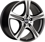 "17"" RONAL R55 SUV - Dull Black / Polished 7,5x17 - ET55"