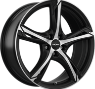 "17"" RONAL R62 - Dull Black / Polished 7,5x17 - ET38"
