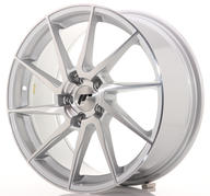 "18"" JAPAN RACING JR36 BRUSHED SILVER"