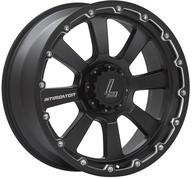 "20"" LENSO INTIMIDATOR 8 - MATT BLACK / CHAMPHER EDGE"