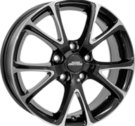 "17"" INTER ACTION PULSAR - Gloss Black / Polished 7x17 - ET42"
