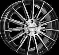 "18"" MONACO FORMULA - Gloss Black / Polished 8x18 - ET37"