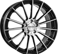 "18"" MONACO FORMULA - Gloss Black / Polished 8x18 - ET45"