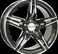 "18"" MONACO GP1 - Gloss Black / Polished 8x18 - ET30"